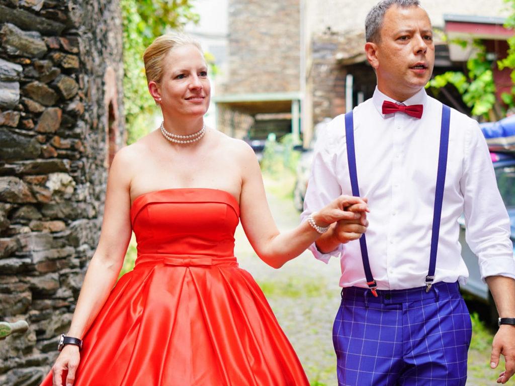 Brautkleid in rot