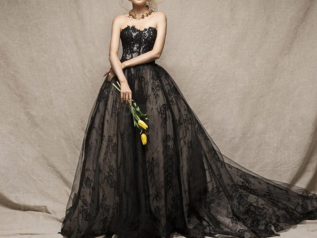 Schwarze Brautkleider sind wieder im Rennen - LAFANTA